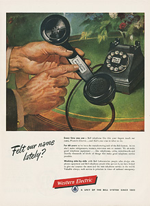 1950 Western Electric advertisement