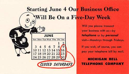 Michigan Bell Telephone Co. Ink Blotter